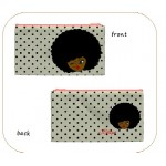 Afro Girl Small Pouch - Polka Dots