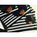 Afro Girl Small Pouch - Striped