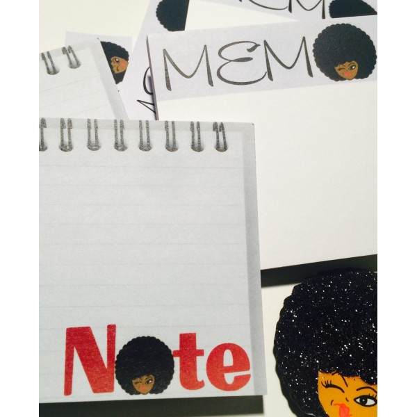 Afro Girl Sticky Notes Designs