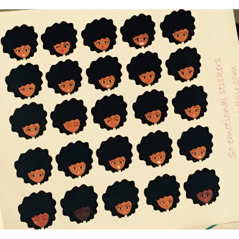 Daily Mood Tracking Sticker Sheets