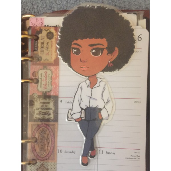 Foxy Brown Planner Friend Bookmark, Page Marker