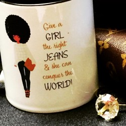 Girl & Jeans - World Conqueror Coffee Cup/Mug