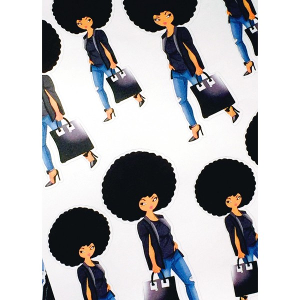 Natural Denim Diva Sticker Sheet
