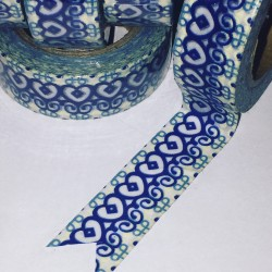 Pretty Blue Adinkra Inspired Washi Tape