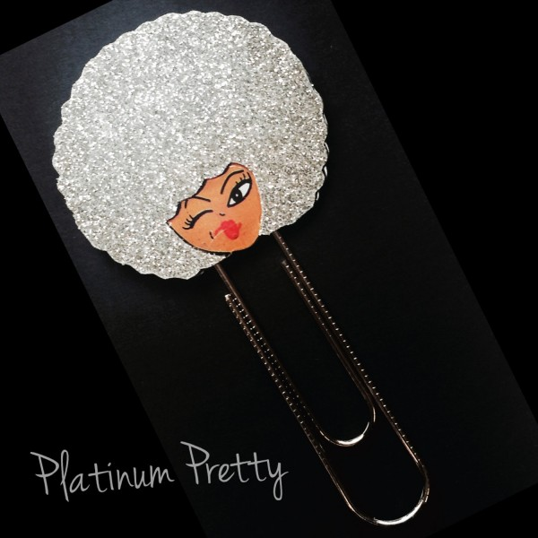 Pretty Platinum Jumbo Planner Clip, Bookmark