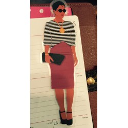 Pretty Prissy Planner Friend Bookmark, Page Marker