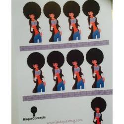 Cute Reader, Diva Planner Friend, Style C - Sticker Sheets