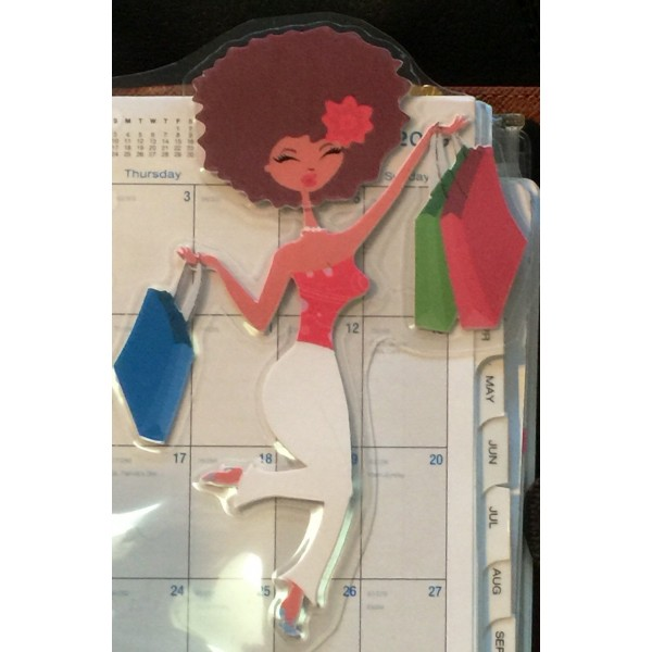 Sassy Diva Shopper Planner Friend Bookmark, Page Marker
