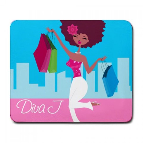 Shopping Diva Personalized Mouse Pad