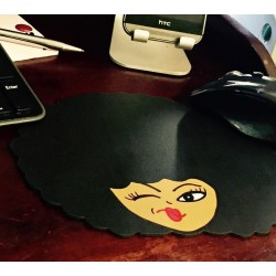Afro Girl Mousepad