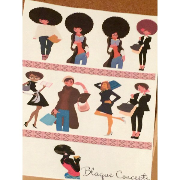 African American Planner Friends - Sticker Sheets