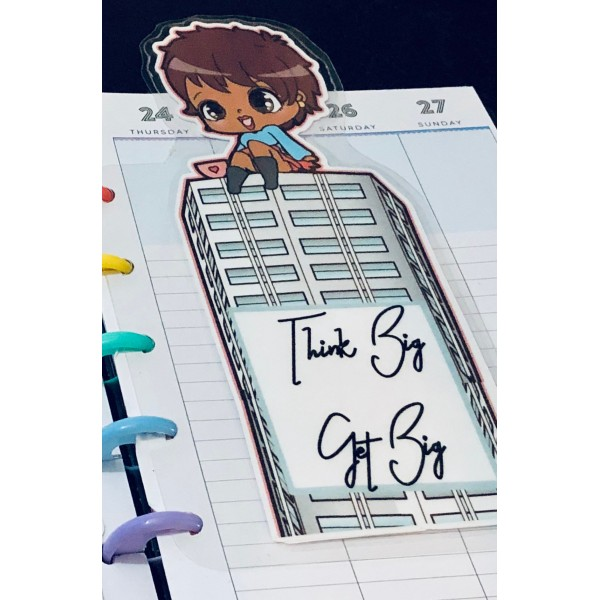 Skyscraper Vision Motivational Planner Page Marker Bookmark
