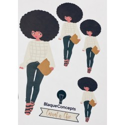 Doing Chic Big! Casual Chic Diva - Sticker Sheets