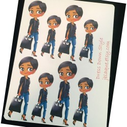 Dress Down Style - Fashion Fun Friday -Casual Day Sticker Sheets