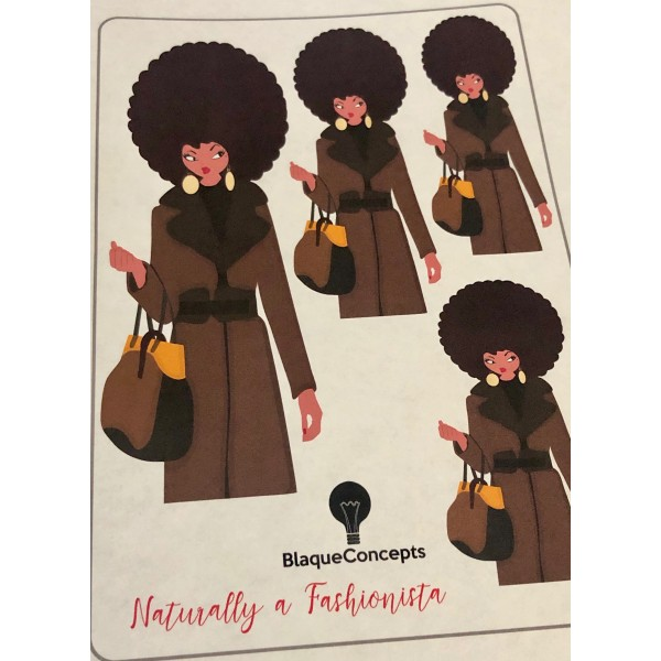 Naturally a Fashionista - Sticker Sheets