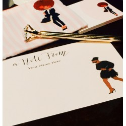 Personalized Flat Notes -Beautifully Dressed Design