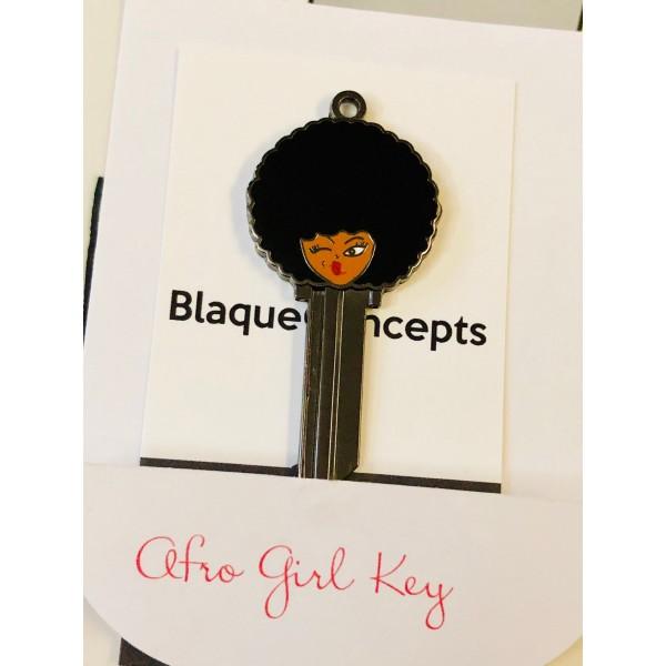 Afro Girl Key Blank