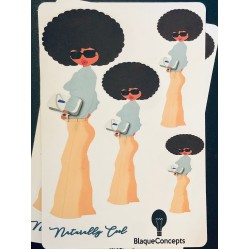 Naturally Cool Diva Friend Stickers