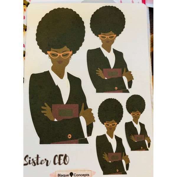 Sister CEO /Lady Boss Stickers