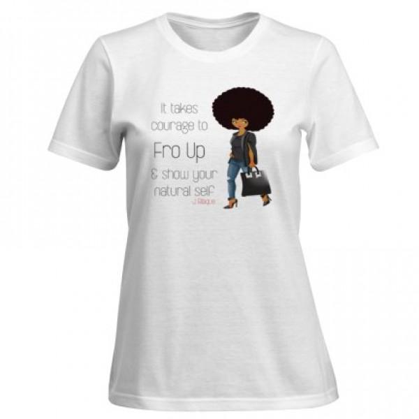 Fro Up Premium Blaque Tee- Women's T Shirt