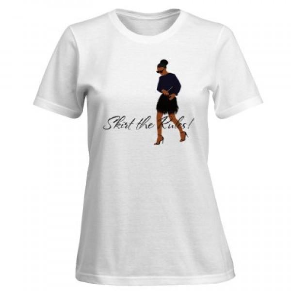 Skirt the Rules Premium Blaque Tee- Women's T Shirt